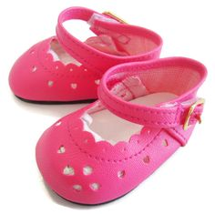 """Bright Pink Dress Shoes fits 18"""" American Girl Doll Clothes Sew Beautiful #DollClothesSewBeautiful"""