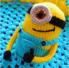 Minion Lovey Crochet Blanket Free Pattern