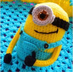 Minion Lovey Crochet Blanket Free Pattern