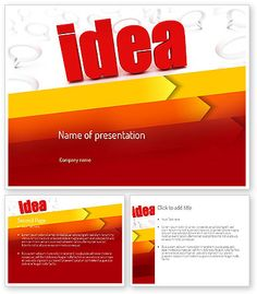 http://www.poweredtemplate.com/11189/0/index.html Idea with Arrows PowerPoint Template