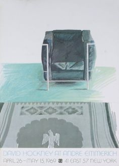 Corbusier Chair and Rug, 1969-#23 Collectable Print by David Hockney at Art.com