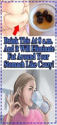 Drink This At 8am And It Will Eliminate All The Fat Around Stomach Very Effectively! #stomach #health #drinks #fat #slimfit #weightloss