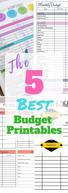 Free budget printables can be the first step to finally getting your finances under control and budgeted. Getting organized and staying organized is crucial when managing finances. Take control of your budget with these 5 free budget templates! The best o
