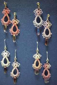 I just love the look of tatting but I am not as ambidextrous as I would like to be so I am practicing with Maria Papia and needle tatti...