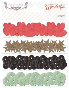 Teresa Collins Designs - Something Wonderful Collection - Sequins at Scrapbook.com
