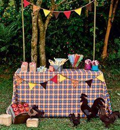 Festa Junina. Arraiá do Nordeste. Brazilian June Party. Decoração de barraca.