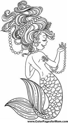 mermaid coloring page 22