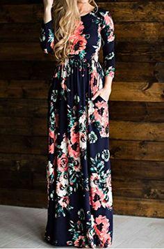 Beautiful Floral Maternity Maxi Dress on Amazon! | Has deep pockets too! | Maternity Dress | Maternity Maxi Dress | Maternity Outfit | Maternity Wardrobe | Maternity Stye | Pregnancy | #affiliate