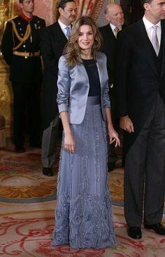La Princesa Letizia en una recepción.