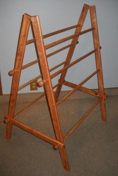 Quilters Treasures - great quilt display ladders! Can use at home or fold for traveling to craft shows.