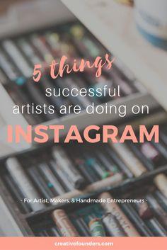 art inspiration 5 Things Successful Artists A - art E-mail Marketing, Business Marketing, Social Media Marketing, Online Business, Marketing Ideas, Shop Logo, Art Crea, Leadership, Instagram Marketing Tips