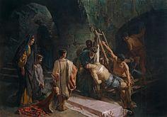 """""""El entierro de San Sebastian"""" Una obra monumental de Alejandro Ferrant, otro pintor español del fin del siglo 19."""