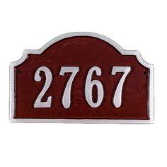 Vanderbilt 1-Line Petite Address Plaque - PCS-60P-C/S-LS