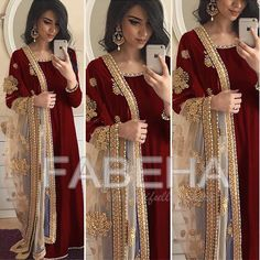 Maroon looks pretty awesome too lol! Outfit from I get asked a… Indian Attire, Indian Wear, Anarkali Dress, Lehenga, Dress Outfits, Fashion Dresses, Frack, Desi Clothes, Mode Hijab