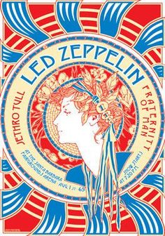 jethro tull Vintage, retro, classic #rock poster – Led Zeppelin and Jethro Tull… - http://sound.#saar.city/?p=29594