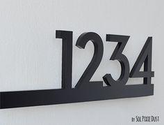 Maison moderne chiffres noir avec de lacrylique noir | Etsy