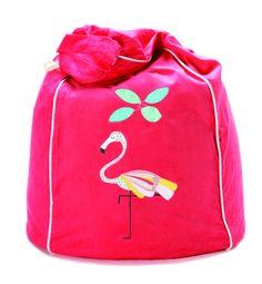 Fancy Flamingo bean bag in watermelon  www.cocooncouture.com