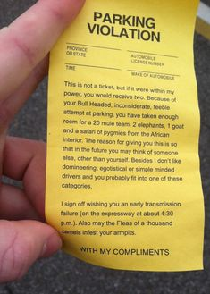 A very funny gag parking violation ticket. Haha Funny, Funny Cute, Hilarious, Funny Stuff, Funny Things, Random Stuff, Fail Blog, Just For Laughs, Just For You