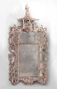English Chinese Chippendale mirror wall mirror stripped