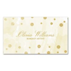 Gold Watercolor and Glitter Business Cards. This is a fully customizable business card and available on several paper types for your needs. You can upload your own image or use the image as is. Just click this template to get started!