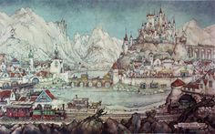 Anton Franciscus Pieck 19 April 1895 24 November 1987 was a Dutch painter artist and graphic artist His works are noted for their nostalgic or fairy tal Kirigami, Anton Pieck, Dutch Painters, Dutch Artists, Artist Art, Painter Artist, Amazing Art, Netherlands, Diorama