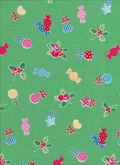Lecien Flower Sugar Holiday 31328 60 - Fat Quarter - Candy Fabric - Christmas…
