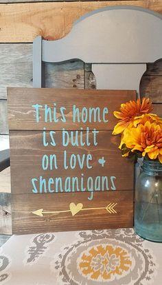Hand crafted wood sign. #DIYHomeDecorCrafts