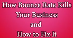 Does your website have a higher bounce rate? Have you applied all these techniques to fix it? Learn These all at SarpInfotech.com