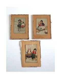 3 Vintage Postacards ETHEL PARKINSON Holland  by BrocAndPop