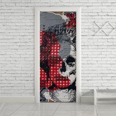 Adesivo de porta princess skull - StickDecor | Decoração Criativa