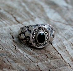 Vintage Men's Silver Marcasite and Black by Gener8tionsCre8tions, $95.00