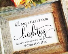Wedding Hashtag Sign rustic wedding decoration Rustic Wedding Sign Rustic Wedding Decor help us capture the love (Frame NOT included) Plan Your Wedding, Wedding Tips, Diy Wedding, Wedding Favors, Destination Wedding, Wedding Photos, Wedding Planning, Dream Wedding, Wedding Invitations