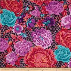 Kaffe Fassett Collective Cabbage & Roses Wine