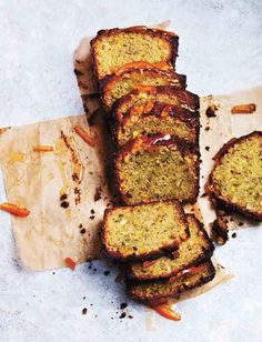 Cardamom, pistachio and marmalade drizzle loaf. This is a great cake to bake this weekend - it serves people so you can share it out or keep it too keep you going through the week! Baking Recipes, Dessert Recipes, Dessert Bread, Brunch Recipes, Cake Recipes, Loaf Cake, Almond Cakes, Sweet Recipes, Sweet Tooth