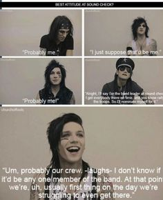 lol Andy<< At least he's honest