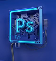 ADOBE NEO-CUBES is a series of Cubes inspired by the Adobe Suites logo designs. The Photoshop Neo-Cube is part 1 of 4 featuring the pen & magic wand tools. Creative Typography Design, 3d Typography, Lettering, Web Design, Logo Design, Layout Design, Design Art, Graphic Design, Typography Inspiration