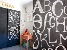 Amazing Chalkboard Writing! - Beau Monde Mama: MY HOME - BABY NURSERY FOR OUR LITTLE GIRL