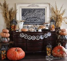My Kitchen for the Holidays with a quick Chalkboard How To! | Loralee Lewis