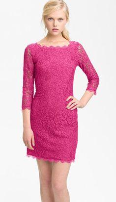 Diane von Furstenberg Lace Wedding Guest Dress