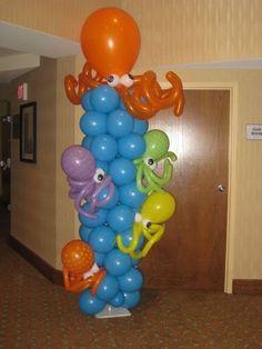 Balões festa fundo do mar