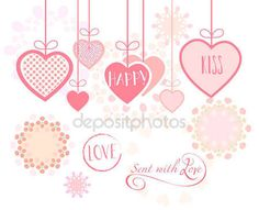 Valentines Day or Wedding Day greeting card hearts, festive pink hand made background Vector template. Romantic poster. Love, Romance Event, banner, e-card, Typography postcard envelope. Advertising, Calligraphy retro design — Stock Vector © sofiartmedia.gmail.com #140597420