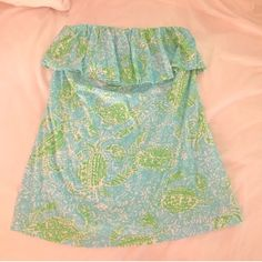 Get Crackin' Tube Top Worn once and laid flat to dry! Lilly Pulitzer Tops Blouses