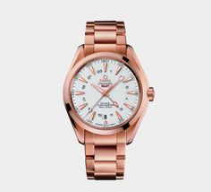 The best gold watches for men. Omega Seamaster 007, Omega Seamaster Planet Ocean, Omega Seamaster Automatic, Best Watches For Men, Cool Watches, Seamaster Aqua Terra, Red Gold, Fashion Watches, Gold Watch
