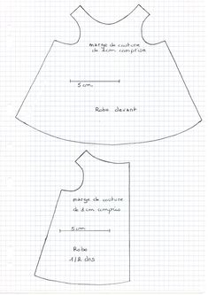 tuto robe rose pour le loup Petite Section, School Themes, Barbie Clothes, American Girl, Dolls, Sewing, Fabric, Pattern, Images