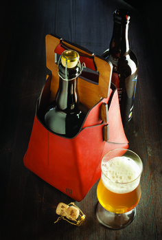 Sixfold NYC's Two-Bottle Beer Tote