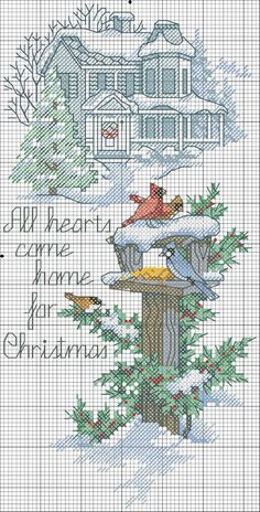 Cross Stitch Christmas Winter CLICK Visit link for more info Xmas Cross Stitch, Just Cross Stitch, Cross Stitch Needles, Counted Cross Stitch Patterns, Cross Stitch Charts, Cross Stitch Designs, Cross Stitching, Cross Stitch Embroidery, Embroidery Patterns