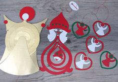 Atomic Paper Christmas Mobile Lot Retro by hauntedlampvintage