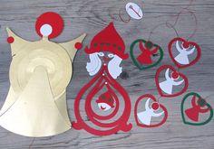 Atomic Paper Christmas Mobile Lot Retro by hauntedlampvintage
