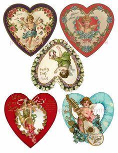 free vintage valentine, Victorian valentine printable, old ...