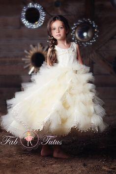 "FabTutus   Products   Flower Girl Dress   ""Beatrice"" Dress - Vendela Rose Collection"